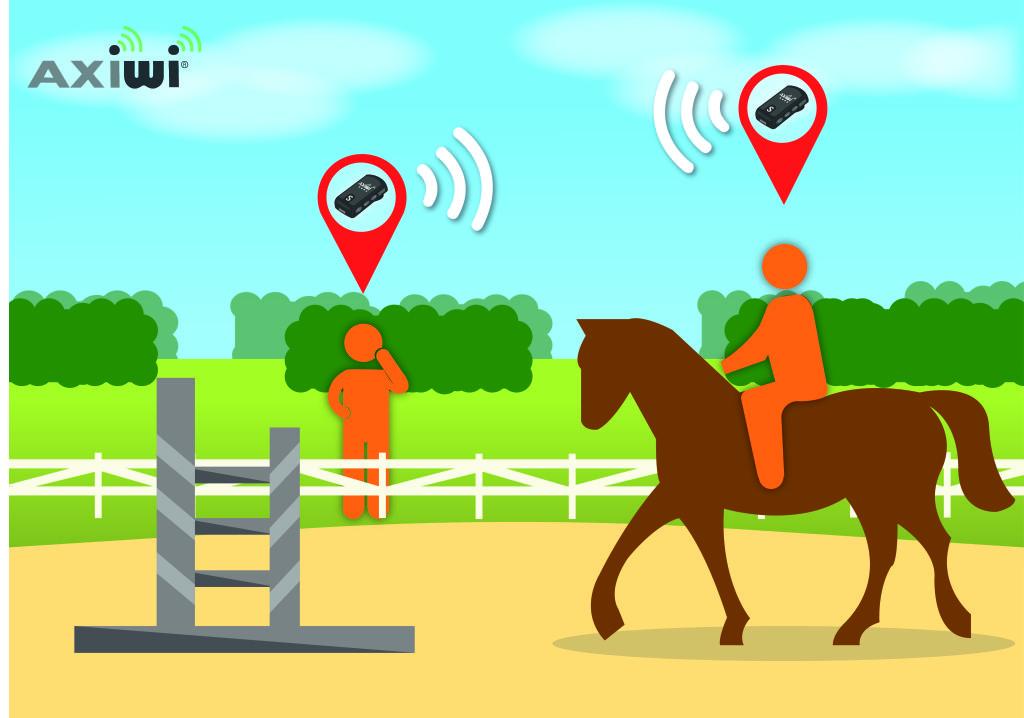 Paardrijden illustratie axiwi