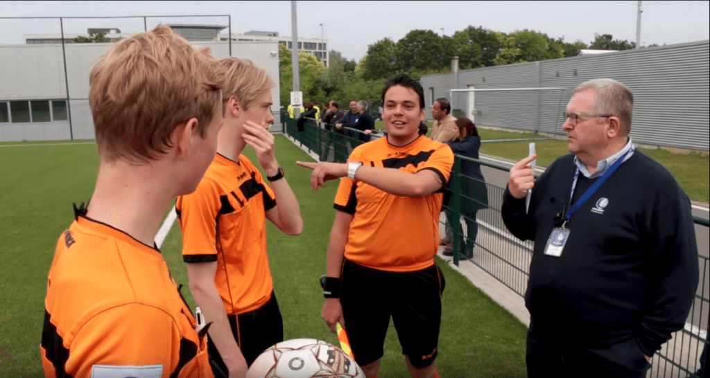 Productdemonstratie AXIWI voor scheidsrechters i.s.m. KAA Gent Referee Academy