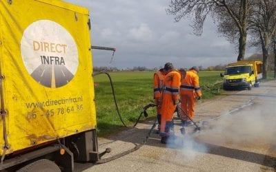 Direct Infra werkt veiliger tijdens asfalteerwerkzaamheden met AXIWI